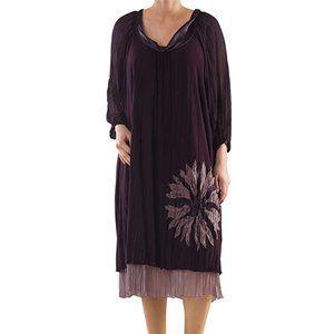 Plus Size Layered Evening Dress - La Mouette